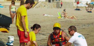 Efectivos de Protección Civil Cartagena durante un simulacro