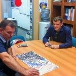 Miembros de la organización de Ocean Lava ultiman detalles de la prueba.