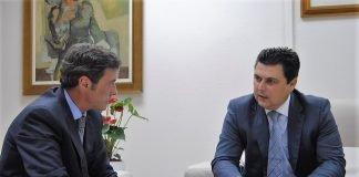 Ayer lunes el alcalde de San Javier pidió al Delegado de Gobierno un destacamento permanente para La Manga de la Guardia Civil o de la Policía Nacional