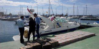 Imagen de la embarcación Habanero I en el Puerto Tomás Maestre.