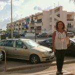 Obdulia Gómez Bernal, concejal de Turismos de Cartagena, en una visita reciente a La Manga.