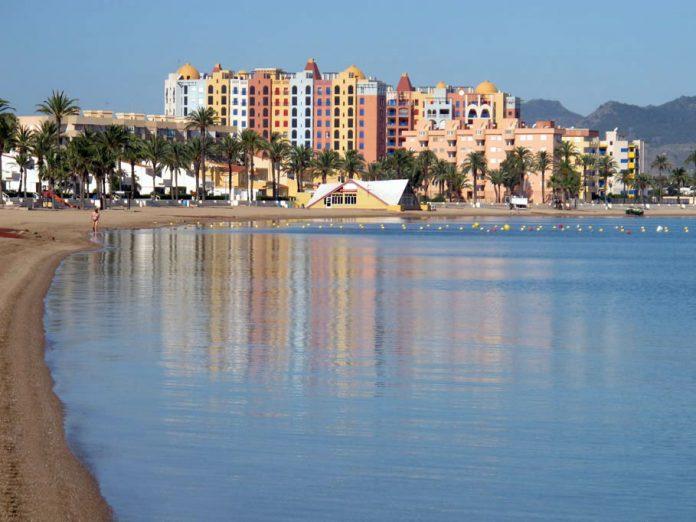 Playa Honda, en el Mar Menor.