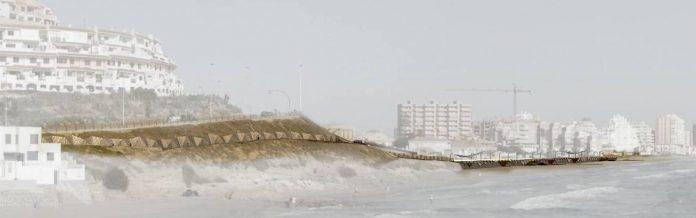 Maqueta presentada por Enrique Mínguez para el futuro tramo del paseo marítimo correspondiente a Monteblanco