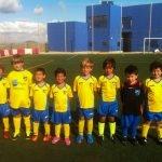 Los prebenjamines B del Club Deportivo La Manga antes de su victoria del sábado