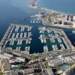 Vista aérea del Puerto Tomás Maestre de La Manga del Mar Menor.