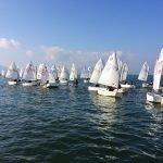 Regata de la clase Optimist celebrada el pasado fin de semana en La Manga del Mar Menor.
