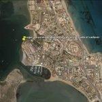 Localización aproximada del cadáver encontrado en La Manga del Mar Menor.