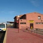 Estación de FEVE de Los Nietos.