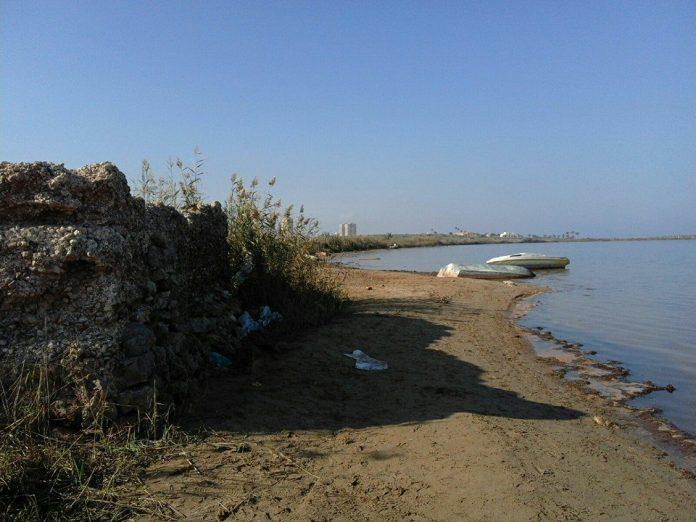 Imagen tomada este fin de semana de los restos de la factoría romana ubicada en Playa Honda.