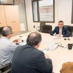 Los representantes vecinales del Arco Sur del Mar Menor se reunieron ayer viernes con el alcalde de Cartagena.