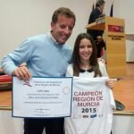 La piragüista del C.D. La Manga, Lucia Degano Esteban, campeona regional.