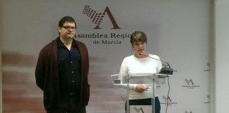 Pedreño y María GIménez, presentaron ayer la Oficina Técnica del Mar Menor.