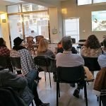 Javier Murcia ofreció ayer tarde una charla sobre la flora y fauna marina en el Mar Menor.