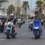 Las motos toman las calles de La Manga (imagen de archivo).