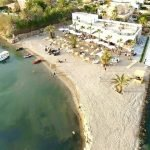 Vista aérea del restaurante Magia Beach, en La Manga del Mar Menor