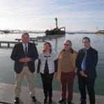 El consejero de Fomento, Francisco Bernabé, visitó ayer el inicio de unas nuevas obras que se van a poner en marcha en la laguna.