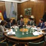 """Durante la reunión de la Corporación municipal de San Javier con el Ministerio se abordó la situación """"alegal"""" en la que se celebran las bodas en La Manga"""