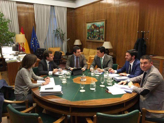 Durante la reunión de la Corporación municipal de San Javier con el Ministerio se abordó la situación