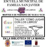 Cartel del taller anunciado la actividad en La Manga del Mar Menor