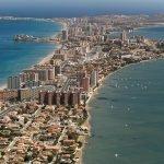 Imagen aerea de La Manga del Mar Menor.