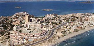 Zona del Monte Blanco en La Manga del Mar Menor.