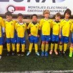 Los Prebenjamines B del C.D. La Manga antes de su partido de la 13ª jornada de la Liga Local de Fútbol Base de Cartagena.