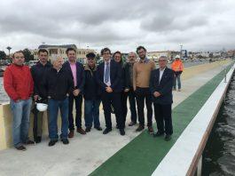 Salvador García-Ayllón visitó ayer las obras de ampliación del puerto de Lo Pagán