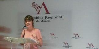 María Giménez defendió ayer una moción para obligar al Gobierno regional a cumplir con sus obligaciones en los espacios naturales protegidos (imagen de archivo)