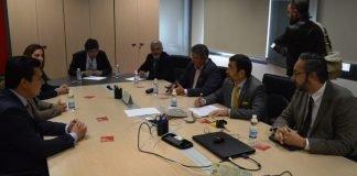 Ayer visitaron el Ayuntamiento de Cartagena los tres alcaldes ribereños que se oponen a la moratoria urbanística en el Mar Menor