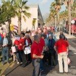 Turistas austríacos en una visita guiada a Cartagena (Imagen de archivo).