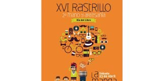 Cartel del XVI Rastrillo de 2ª mano y artesanía que se celebra el día 23 con motivo del Día del Libro.
