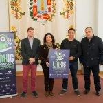 El organizador del evento, Diego Conesa (2º D) junto a tres concejales del Ayuntamiento de Cartagena.