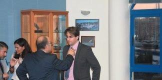 Salvador García-Ayllón (derecha) considera que las urbanizaciones del Mar Menor no son el problema más grave (imagen de archivo)