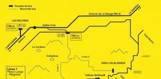 Líneas de autobuses diseñadas para Calblanque este verano