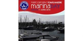 Cartel anunciador de las jornadas de puertas abiertas Marina Day