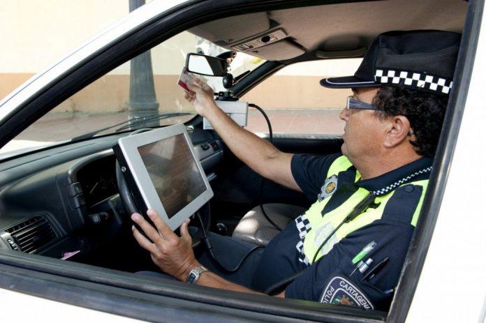 Controles de velocidad de la Policía Local de Cartagena.
