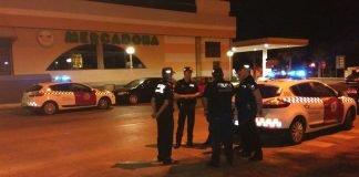 Imagen del dispositio anti-botellón de la noche del sábado al domingo, difundida por la Policía Local a través de redes sociales.