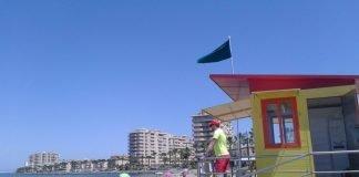 El Ayuntamiento de San Javier puso en marcha ayer el operativo de vigilancia en playas en La Manga Norte.