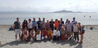 Fotografía con los operadores irlandeses que han estado una semana en el Mar Menor invitados por la Consejería