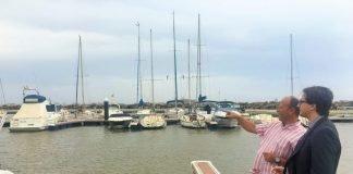 García-Ayllón visitó las obras del puerto este fin de semana