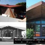 Estado actual de las antiguas oficinas de Eurovosa y una fotografía de principios de los 70.