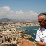 """""""Subiré encantado los 253 escalones"""", afirmó el Vicealmirante nada más llegar a la explanada del faro de Cabo de Palos"""