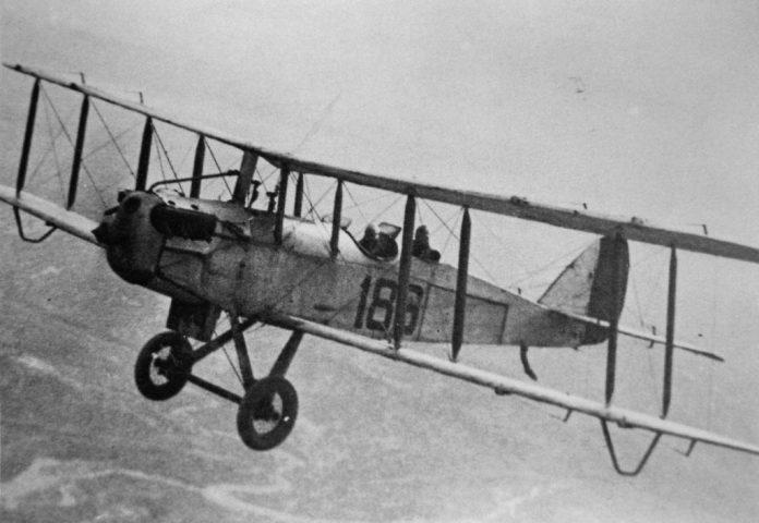 Imagen del avión pilotado por el teniente Bañón.