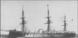 Fotografía de la fragata acorazada Numancia destinada a Cartagena en diciembre de 1864 y que participó en la batalla frente a de Cabo de Palos