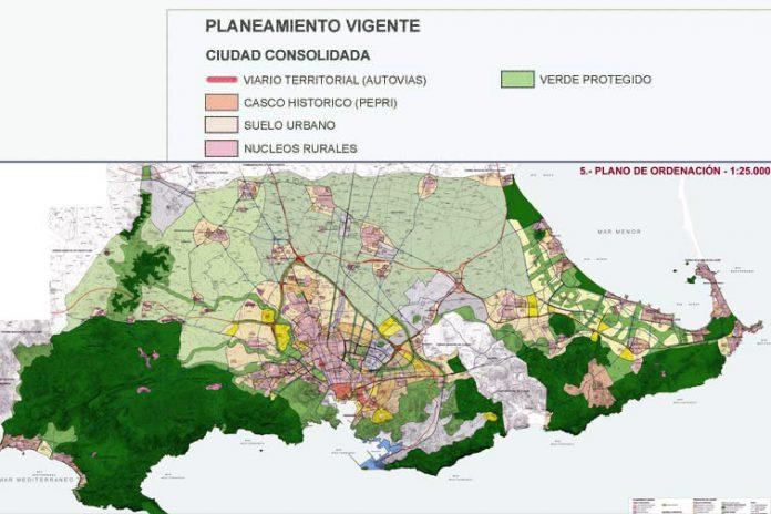 Mapa del Plan General de Ordenación Urbana del municipio de Cartagena