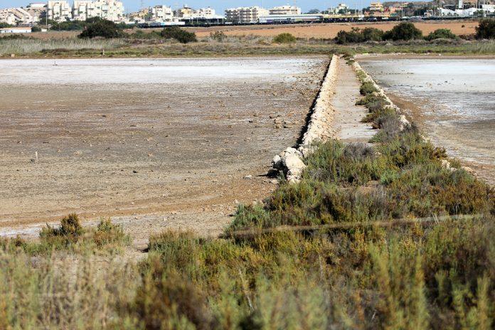 Salinas de Marchamalo en La Manga del Mar Menor, julio de 2016.