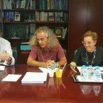 Momento de la firma del convenio entre la Comunidad y ANSE ayer lunes