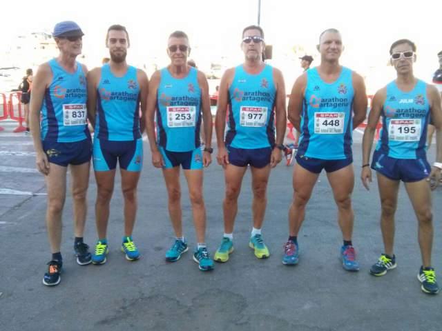 El club maratón Cartagena volvió a ser el equipo con mayor número de participantes en el Cross de Cabo de Palos