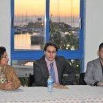 Salvador García-Ayllón durante la presentación en La Manga de la ITI (imagen de archivo)