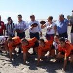 El apoyo del Gobierno regional a los Mar Menor Games ha traído al presidente de la Comunidad hasta Los Alcázares.